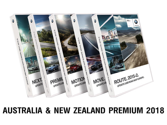 BMW Road Map AUSTRALIA & NEW ZEALAND PREMIUM 2018 - bimmer-unlock