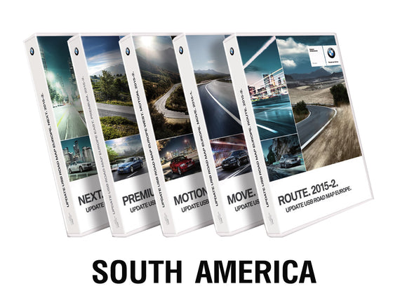 BMW Road Map SOUTH AMERICA PREMIUM 2018 - bimmer-unlock