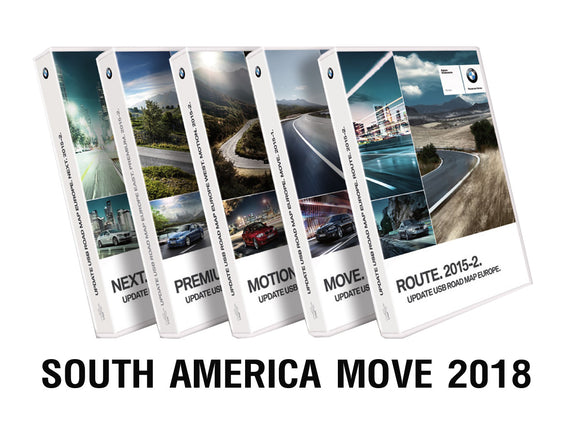 BMW Road Map SOUTH AMERICA MOVE 2018 - bimmer-unlock