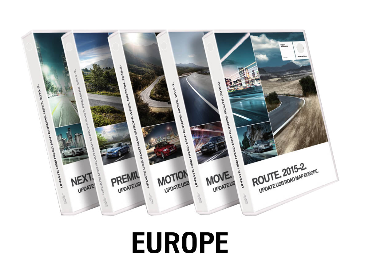 road map europe route 2015 BMW Road Map EUROPE WEST ROUTE 2021 1 | bimmer unlock