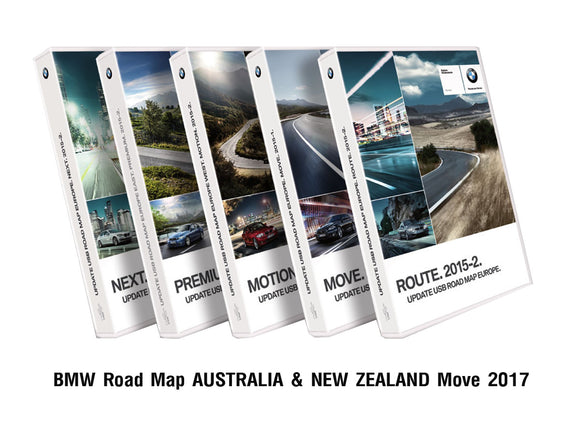 BMW Road Map AUSTRALIA & NEW ZEALAND Move 2017 - bimmer-unlock