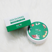 Load image into Gallery viewer, EYENLIP Gold and Snail Hydrogel Eye Patch 60ea