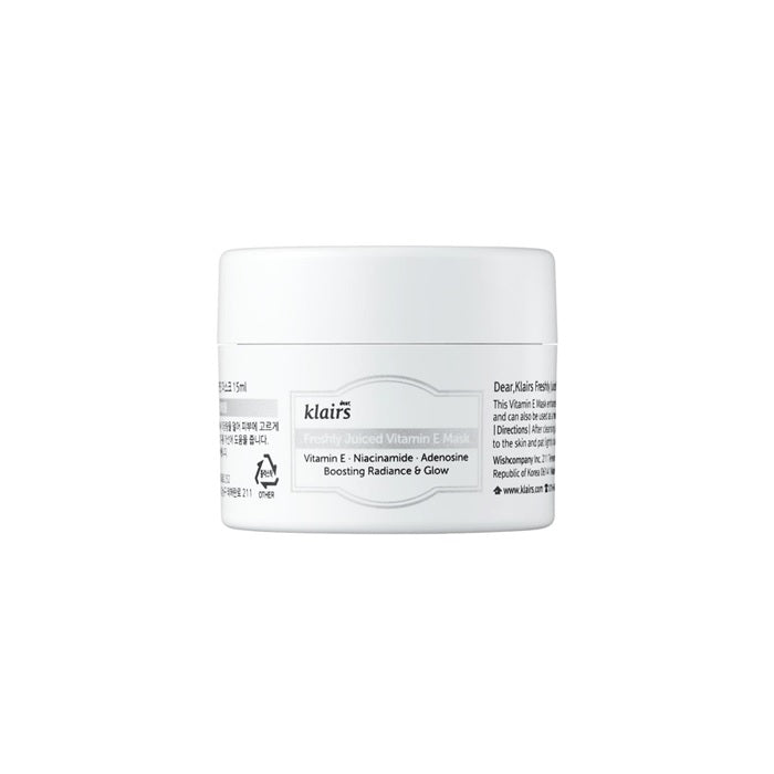 KLAIRS Freshly Juiced Vitamin E Mask 15ml Mini