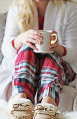 Flannel PJ Bottoms and a Cozy Top