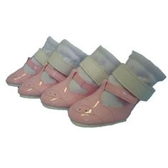 Mary Jane Dog Shoes - Pink