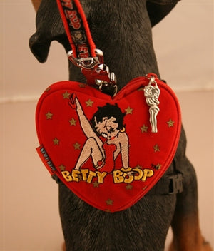 Betty Boop Heart-Shaped Backpack (01) - Betty Boop Canine Couture