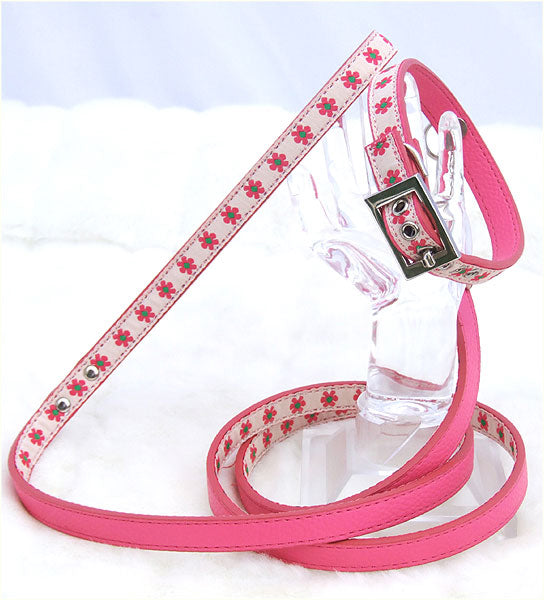 Dog Flower Collar and Leash