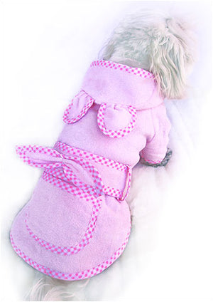 Pink Bunny Dog Bathrobe