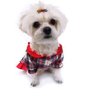 Antique Plaid Dog Dress - Doggie Designer