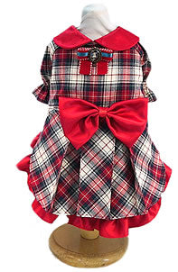 Antique Plaid Dog Dress