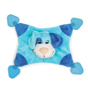 Zanies Puppy Snugglers Teething Blanket Dog Toy Blue