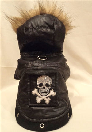 Tough Dog Black Skull Dog Jacket - Platinum Puppy Couture