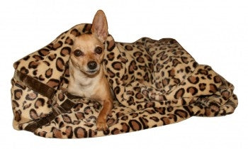 Brown Cheetah Mink Blanket