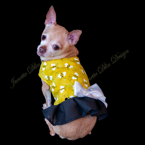 Bumble Bee Dog Top-JanetteDlinDesign