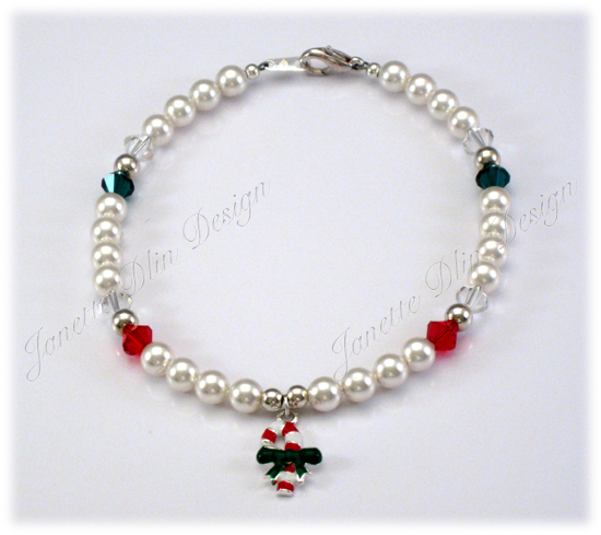 Christmas Peppermint Necklace - Dog Necklace