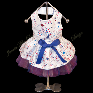 Patriotic Colors Dress - Janette Dlin Design