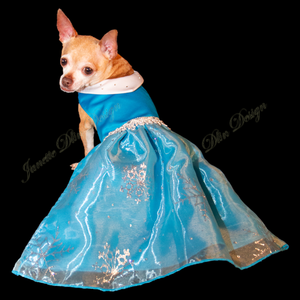 Royal Sparkling Snowflake Dog Dress-Janettedlindesign
