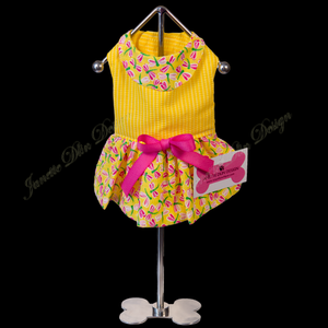 Yellow Dragonfly Dress - Janette Dlin Design