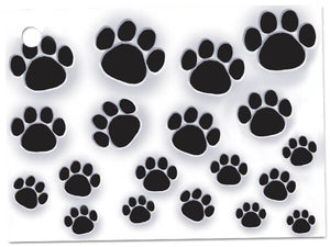 Paw printed Enclosure Cards