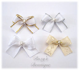 Baby Wedding Dog Bow - Baby Dog Bows