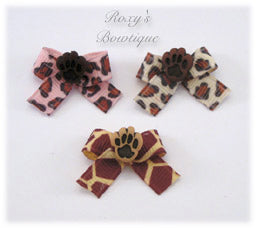 Safari Baby Dog Bow