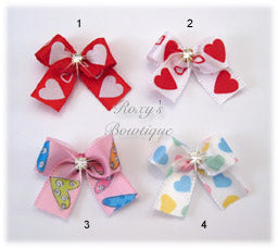 Baby Hearts Dog Bow - Baby Dog Bows