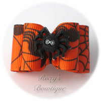 Halloween Spider - Adult Dog Bow
