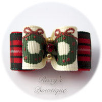 Christmas Wreaths - Puppy Dog Bow