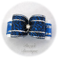Royal Silver Sparkle - Puppy Dog Bow