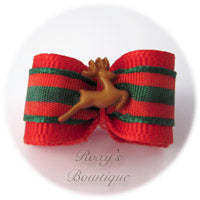 Santa's Reindeer-Puppy Dog Bow