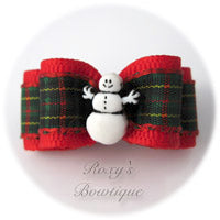 Snowman - Puppy Dog Bow