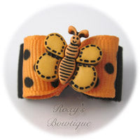 Apricot and Black Butterfly - Puppy Dog Bow