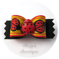 Lady Bug Dog Bow