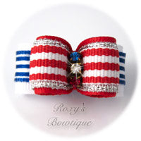 Red, White, and Blue- Puppy Dog Bow