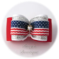 Fourth of July-Puppy Dog Bow