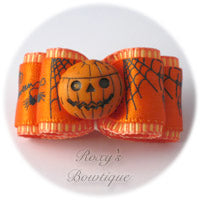 Happy Jack 'O Lantern - Adult Dog Bow