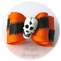 Smiling Skeleton - Adult Dog Bow