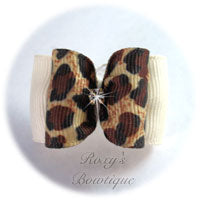 Elegant Safari Bow - Adult Dog Bow