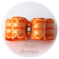 Kendra Orange - Puppy Dog Bow