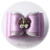 Lavender Crystal Butterfly - Adult Dog Bow