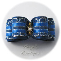 Kendra Royal Blue - Puppy Dog Bow