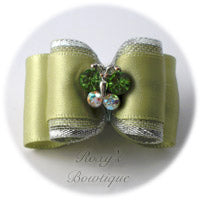 Celadon Crystal Butterfly - Adult Dog Bow
