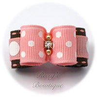 Swiss Dots Pink and White