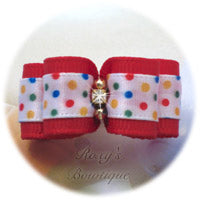 Red Confetti Candy - Puppy Dog Bow