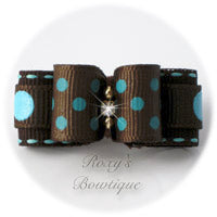 Swiss Dots Brown and Turquoise