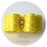 Kendra Yellow - Puppy Dog Bow