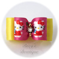 Pink Hello Kitty Dog Bow