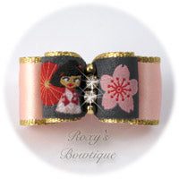China Doll with Pink Satin - Puppy Dog Bow