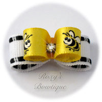 Tiny Bumblebee Dog Bow - Tiny Dog Bow