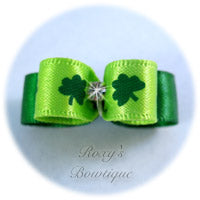 Lucky Shamrock - Tiny Size Dog Bow